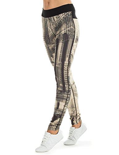 Winshape Damen Functional Power Shape Tights Push-Up PUL101 Slim Style Leggings, New-York, S
