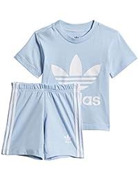 aee7d710427 adidas - Conjunto de pantalón Corto y Camiseta Unisex para bebé