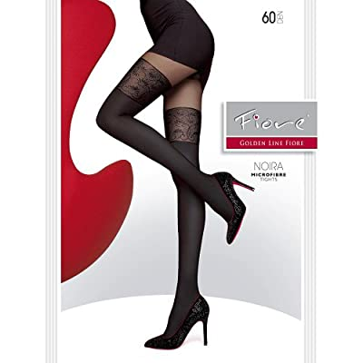 "NEW MOCK SUSPENDER -TIGHTS-FIORE "" NOIRA"" 60 Denier- Imitating Hold Ups Style"