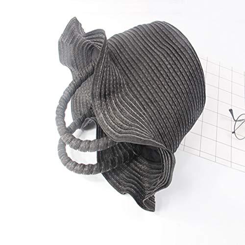 ZIHUINI Paket Einfache Art-Wannen-zylinderförmige Strohbeutel-romantische gesponnene Frauen-Handtaschen-Einkaufstasche-Schnur-gestrickte Strand-Tasche Sommerferien -
