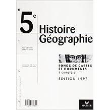 HISTOIRE GEOGRAPHIE 5EME FONDS DE CARTES + TRANSPARENTS