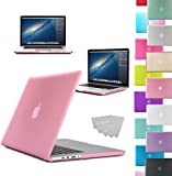 LOVE MY CASE / NEW PINK Rubberized See-Through Hard Case Cover for Apple Macbook Pro 13-inch with RETINA DISPLAY (Models: A1502 / A1425) (will NOT fit standard MacBook Pro with CD/DVD Rom)