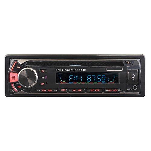 Autoradio DVD PNI Clementine 9440, Stéréo 1 Din, Récepteur Audio Bluetooth Unité Principale Lecteur CD avec Radio FM, Télécommande et Cable iOS, Prise en Charge des Formats MP3/ USB/SD/AUX/FM/iPod/IP