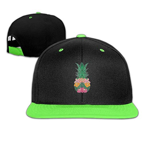 Adjustable Baseball Youth Caps Hip Hop Hats Pineapple and Flowers Boy-Girl Goorin Kids Hat