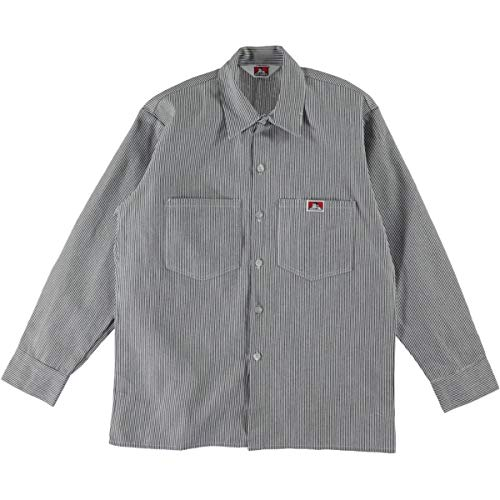 Ben Davis Long Sleeve Work Shirt Hickory Stripe - Ben Short Sleeve T-shirt