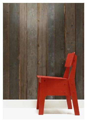 NLXL Tapete in Holz-Optik von Piet Hein Eek, Faserstoff, Braun, 1Rolle (900x48,7cm) - Scrapwood Wallpaper