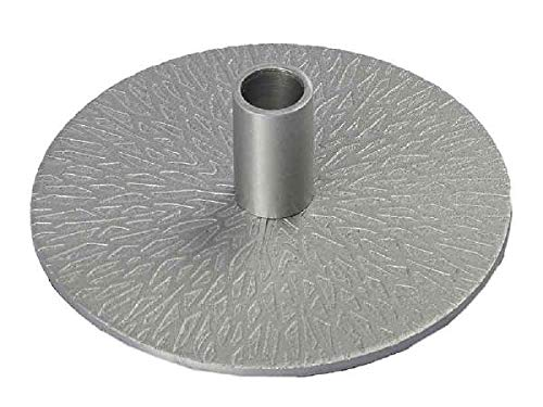 Kerzenleuchter für ganz dünne Kerzen Ø 13 mm auf Sternplatte mit Kerzentülle in Silber