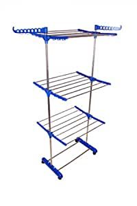 SUNDEX Staineless Steel Cloth Drayer Stand - (Made in India) Sky Blue