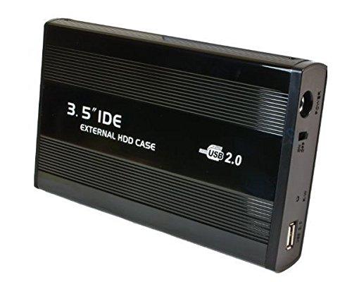 Alu 8,9cm (3,5 Zoll) USB IDE HDD Extern Festplattengehäuse Festplattenlaufwerk Gehäuse