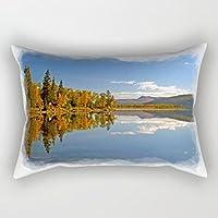 Oliyneco svedese Autumn Reflections in tela di cotone rettangolo decorativo