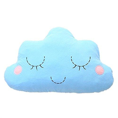 Office-sofa (Nunubee Cloud-förmige zierkissen mit füllung Spielzeug deko Kissen Kurze Plüsch Baumwolle PP Baumwolle Wohnzimmer Sofa Office dekorative babyzimmer deko, Blau 50 * 30cm)