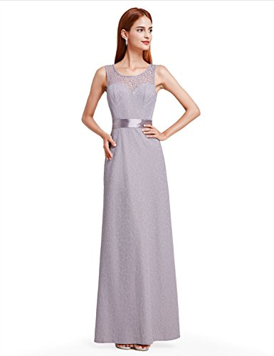 Ever Pretty Sexy Cocktail Evening Party Max Long Dress Grey 16UK
