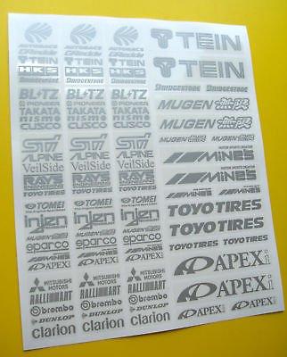 RC Drift SILBERN sticker aufkleber HPI Losi Drift-R - Sturm Silber Kostüm