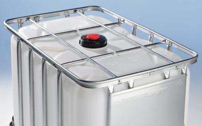 Preisvergleich Produktbild IBC Transport- und Lagertank auf Kunststoffpalette - Inhalt 600 Liter - Gefahrgutausführung - Containerpalette Lagertank Systempalette Tank Transporttank