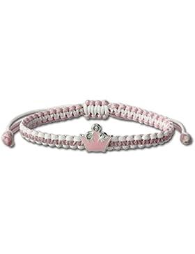 Teenie-Weenie Kinder Armband rosa mit Krone aus der Tee-Wee Kinderschmuck Kollektion - aus 925er Silber TW SDA8000A