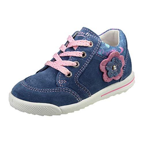 Superfit Baby Mädchen Avrile Mini Sneaker Blau/Rosa 80, 24 EU