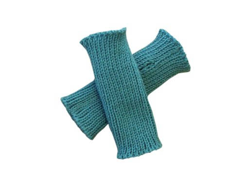 tevirP 100% Merinowolle Baby Kleinkind Armstulpen Strick Fäustlinge Gr. 3-4 Jahre, aqua blue