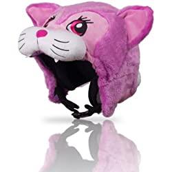 Hoxyheads - Casco de esquí para niños, diseño de Gata, Color Rosa