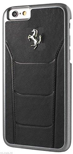 Ferrari FESEHCP6BK Debossed Leder 488 harte Schutzhülle für Apple iPhone 6/6S 11,9 cm (4,7 Zoll) schwarz schwarz