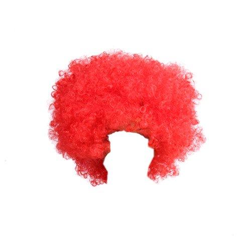 kurzes krauses Afro Haar Kostüm cosplay Perücke (Rot)