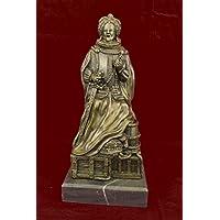 Statua di bronzo Scultura...Spedizione Gratuita...Firmato in marmo Base Vendita Zengh regina Elisabetta I Reale originale(YRD-631-JP)Statue Figurine Figurine Nude per ufficio e casa Décor Primo Giorn Deal