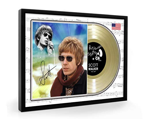 We Love Guitars Scott Walker Brothers Sun Ain't Gonna Shine Anymore Signed Framed Gold Disc Record Vinyl (O)