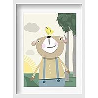 Bilder Kinderzimmer Poster SONDEREDITION Bruno Bär - hochwertiger Druck auf Qualitäts-Papier, pastellfarben (ungerahmt) …