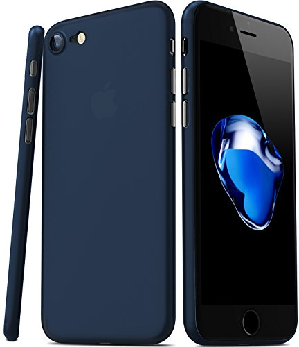 TOZO para iPhone 7 iPhone 8 Funda [0.35mm] Ultrafino [ Ajuste perfecto ] World's más delgado Hard Protect Funda Back Cubrir Bumper [ Semi-transparent ] Ligero 4.7 inch [Matte Ore Azul]