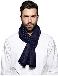 SEW ELEGANT NEW Men's Prime Simple Colour Mix Weave Frayed Scarf