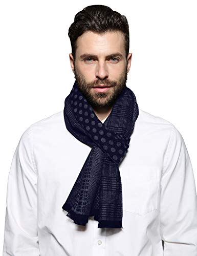 SEW ELEGANT Warm Schal Plaid Tartan gestreifter Weaving Herren Weicher Mode Classic und Elegant Business Schals (Marine) - Elegante Plaid