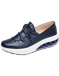 Zapatos de Cuero para Mujer Otoño 2018 Zapatillas Dama con Plataforma PAOLIAN Casual Baratos Cómodo Calzado