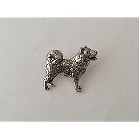 D16Husky Pin Spilla Badge in Peltro Inglese con un prideindetails pacchetto regalo