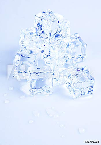 druck-shop24 Wunschmotiv: Ice Cubes on White Background #31706178 - Bild als Foto-Poster - 3:2-60 x 40 cm / 40 x 60 cm