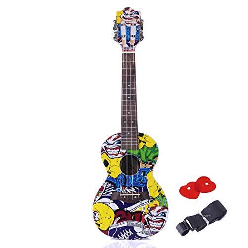 MRKE Ukelele Guitarra Niño para Principiantes 63CM 4 Cuerdas Juguete de Instrumentos Musicales con Correa de Guitarra y Picks para Infantil Niño y Niña 3-14 Años