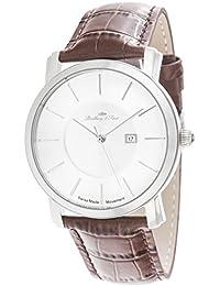 Lindberg & Sons Herren-reloj analógico de pulsera de cuarzo cuero LS-SM-82