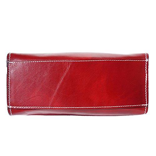 Sac à main en vrai cuir de vache tamponè à la main 6414 Rouge