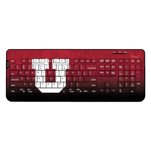 Utah Utes Keyscaper Wired Keyboard officially licensed by the University of Utah Full Size Low Profile Direct Print Plug & Play by keyscaper