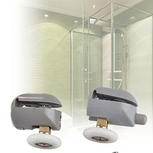 Preisvergleich Produktbild EMOTREE 4 Set  25mm Duschtür Glastür Ersatz Rolle Rollenführung Tür-Rollen Duschkabinen Duschtürrollen