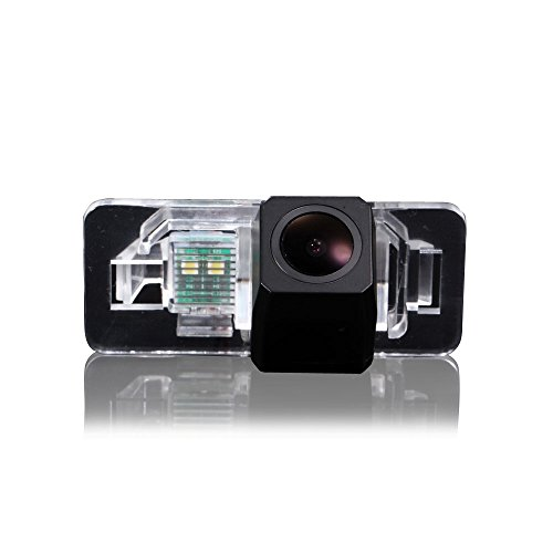 Dynavision 1000TV Lines Rückfahrkamera wasserdicht Nachtsicht Auto Rückansicht Kamera Einparkhilfe Rückfahrsystem, Kennzeichenleuchte für BWM X Series 1 Series 3 Series 5 Series E90 E91 E92 320