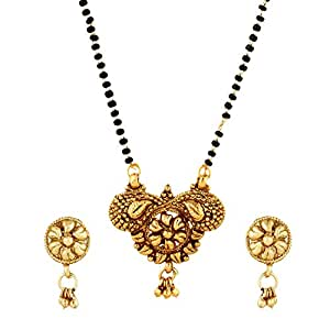 MangalsutraTraditional Indian Historic South Indian Humpy Inspired Mangalsutra Necklace with Earrings Ethnic Tanmaniya
