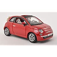 Fiat 500C Cabriolet, red, canopy open , Model Car, Ready-made,