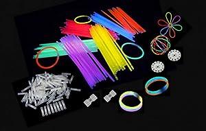 decotrend-line-100Pulseras Starlight Pulseras Luminosas Glow Disco, Colores Surtidos, 100101