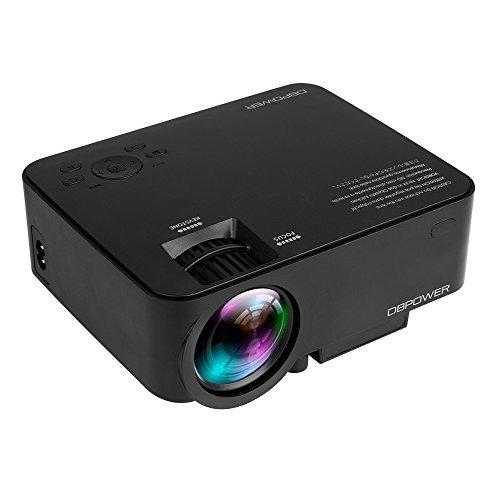 DBPOWER T20 Full HD Mini Beamer, Projektor, LED Beamer Unterstützung 1080P Mit Kostenlose HDMI-Kabel USB/SD/VGA/AV/Laptop/ 3-Jahresgarantie Ausgeliefert(Schwarz)