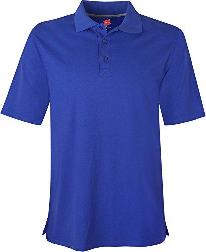 Hanes - Maglietta sportiva - Maniche corte  -  uomo Blu reale profondo