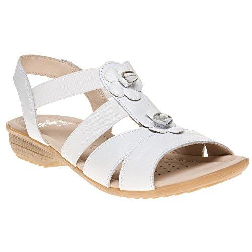 Caprice 28652 Femme Blanc Sandale Weiß