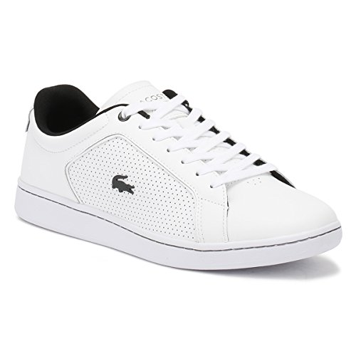 Lacoste Homme Carnaby EVO 317 10 SPM Trainers, Blanc Blanc