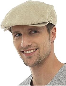 Tom Franks Mens Cotton Linen Lightweight Vintage Style Flat Cap