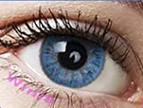 Farbige Kontaktlinsen Monatslinsen blau hellblau