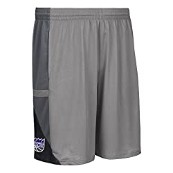 NBA Sacramento Kings Mens Tip-Off Mesh Shorts, Medium, Black
