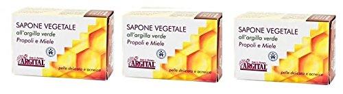argital-savon-vegetal-a-largile-verte-propolis-et-miel-3-boites-de-100-gr-nettoyage-visage-pour-peau